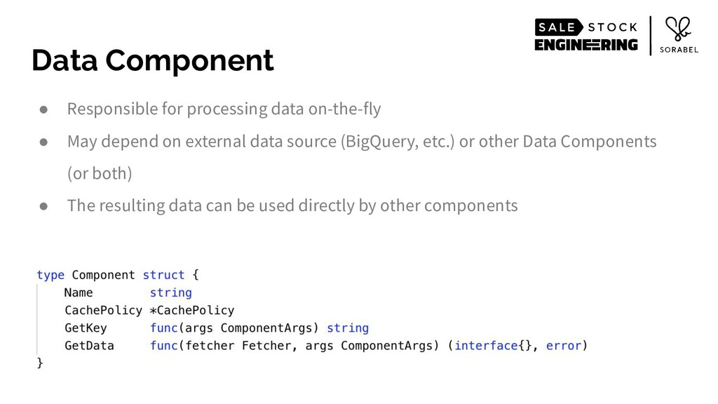 Data Component ● Responsible for processing dat...