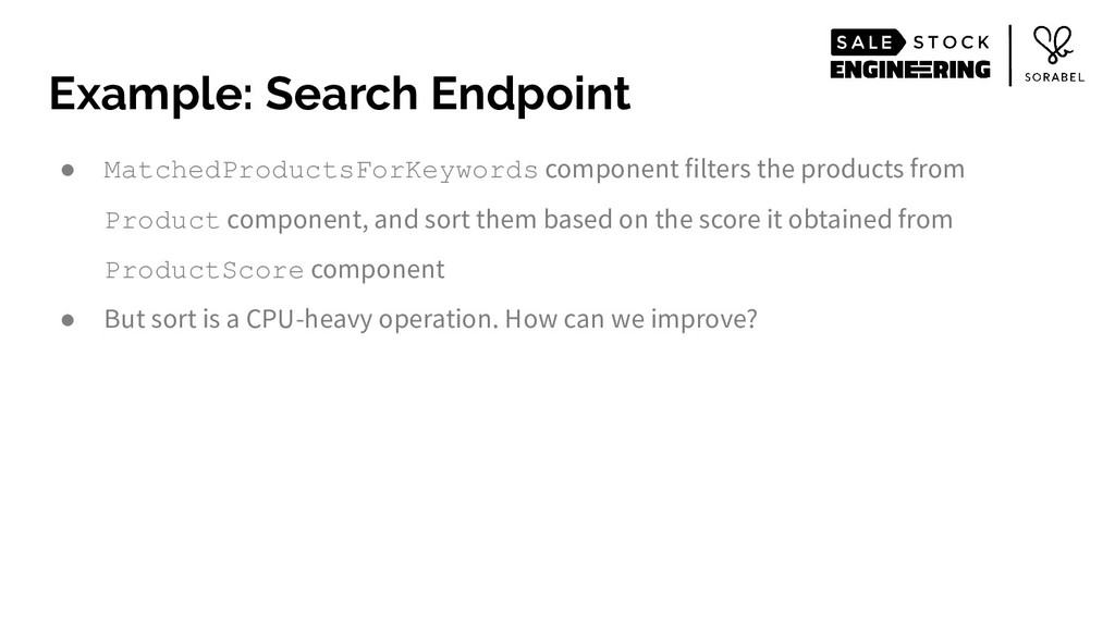 ● MatchedProductsForKeywords component filters ...
