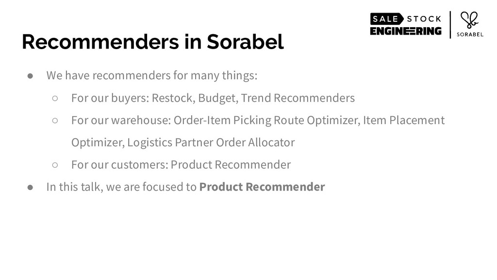 ● We have recommenders for many things: ○ For o...