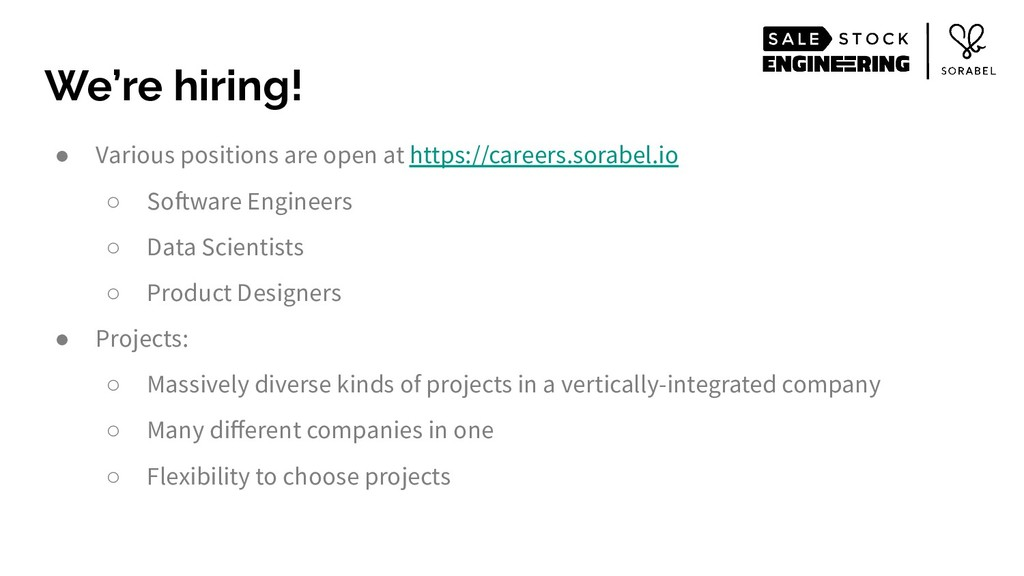 ● Various positions are open at https://careers...