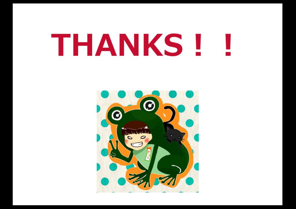THANKS!!