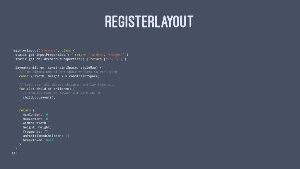 REGISTERLAYOUT registerLayout('masonry', class ...