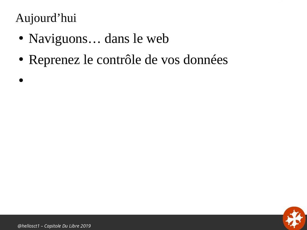 @hellosct1 – Capitole Du Libre 2019 Aujourd'hui...