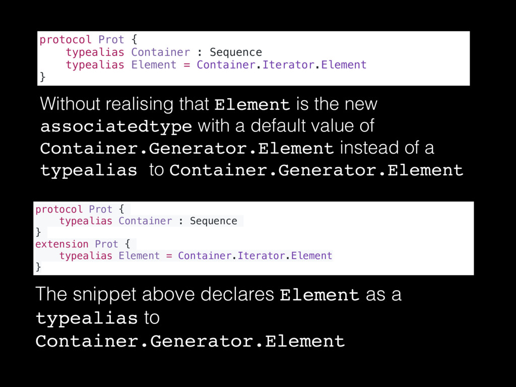 Without realising that Element is the new assoc...