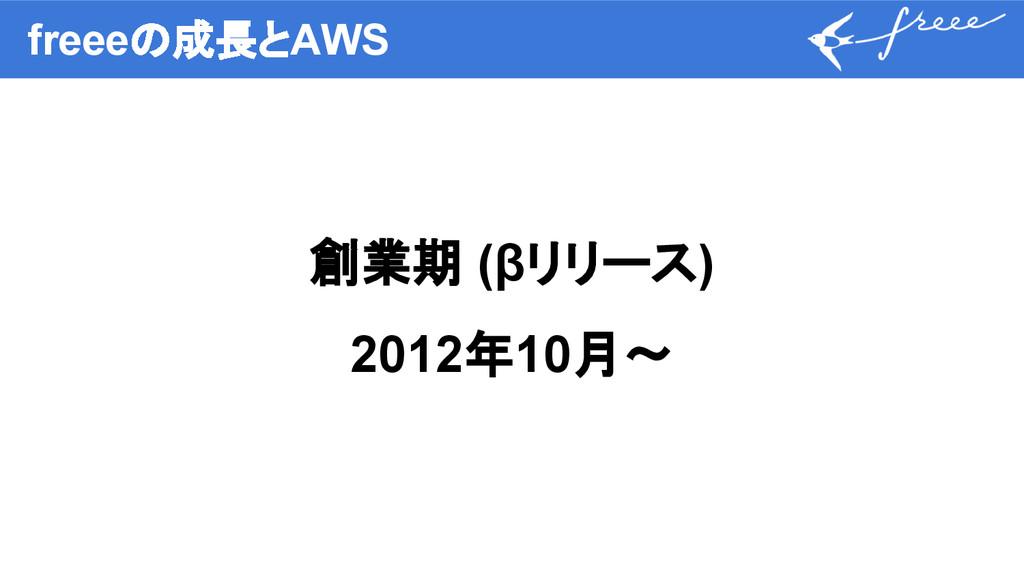 freeeの成長とAWS 創業期 (βリリース) 2012年10月〜
