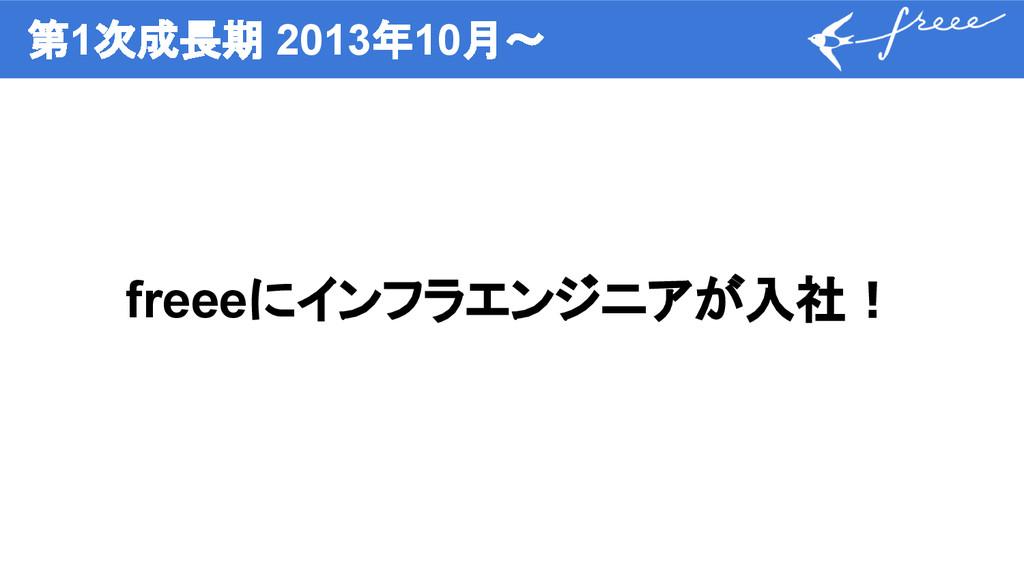 第1次成長期 2013年10月〜 freeeにインフラエンジニアが入社!