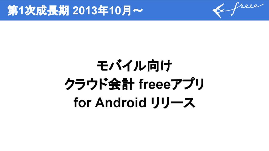 第1次成長期 2013年10月〜 モバイル向け クラウド会計 freeeアプリ for And...