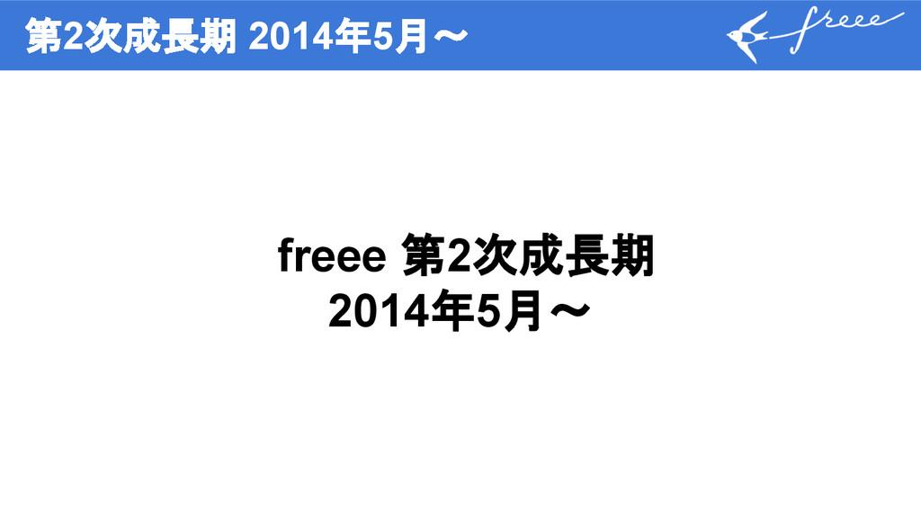 第2次成長期 2014年5月〜 freee 第2次成長期 2014年5月〜