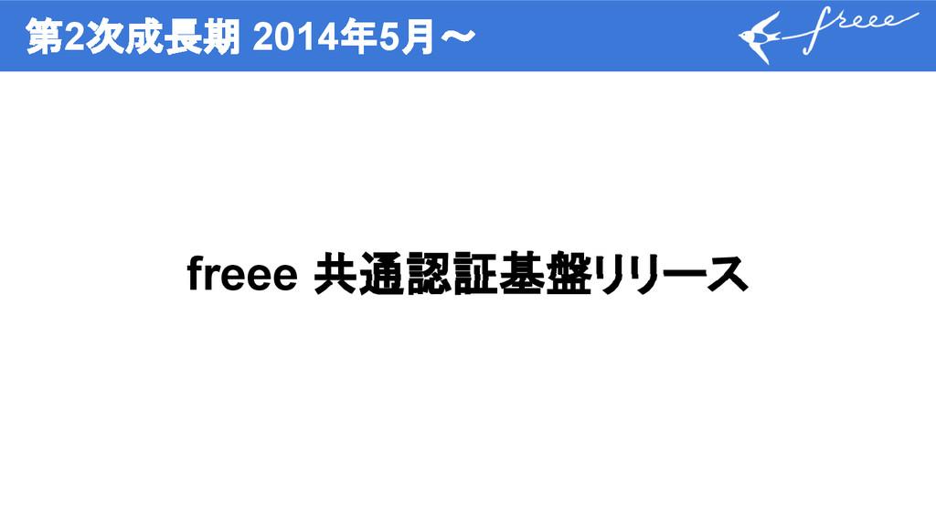 第2次成長期 2014年5月〜 freee 共通認証基盤リリース