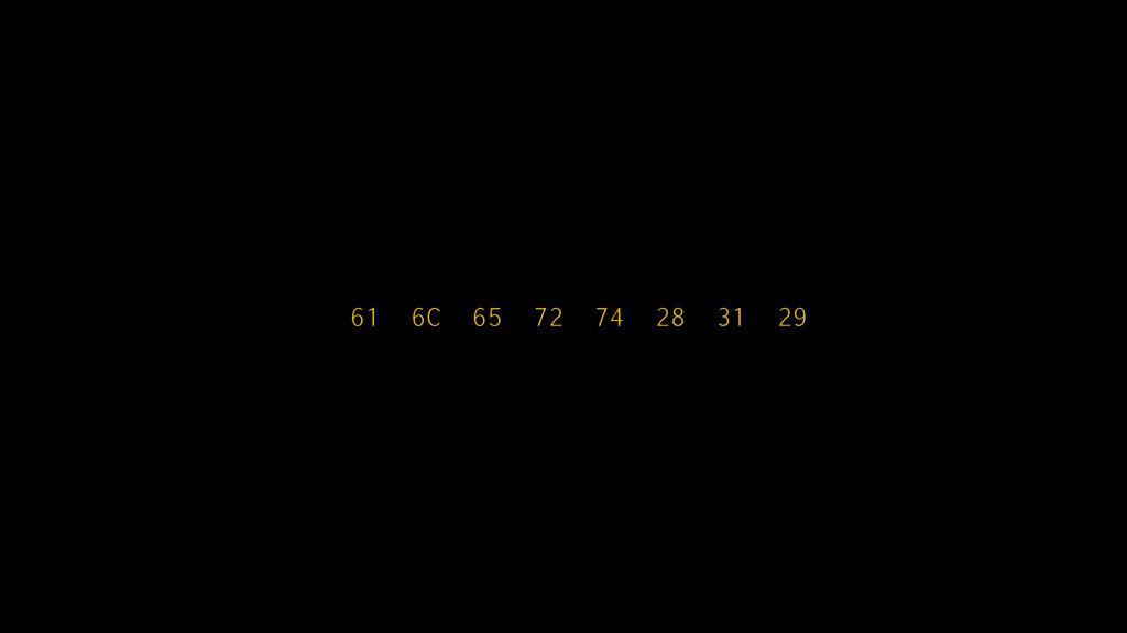 61 6C 65 72 74 28 31 29