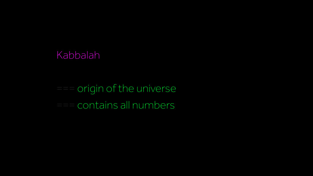Kabbalah === origin of the universe === contain...