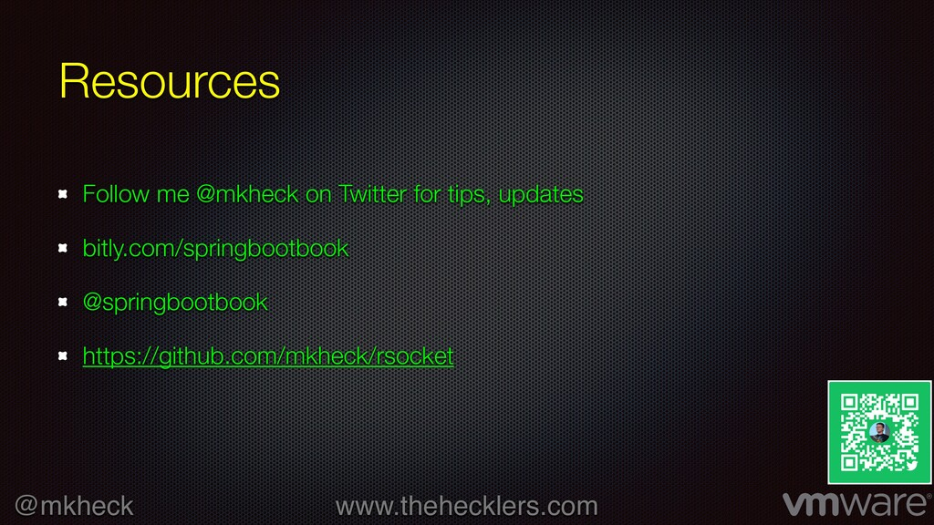 @mkheck www.thehecklers.com Resources Follow me...