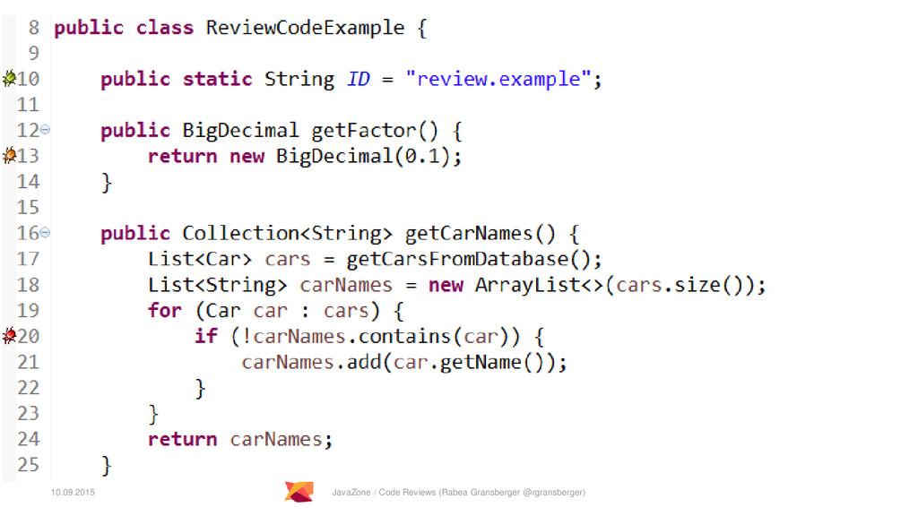 10.09.2015 JavaZone / Code Reviews (Rabea Grans...