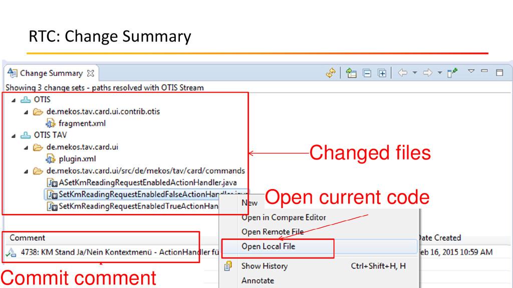 RTC: Change Summary 10.09.2015 JavaZone / Code ...