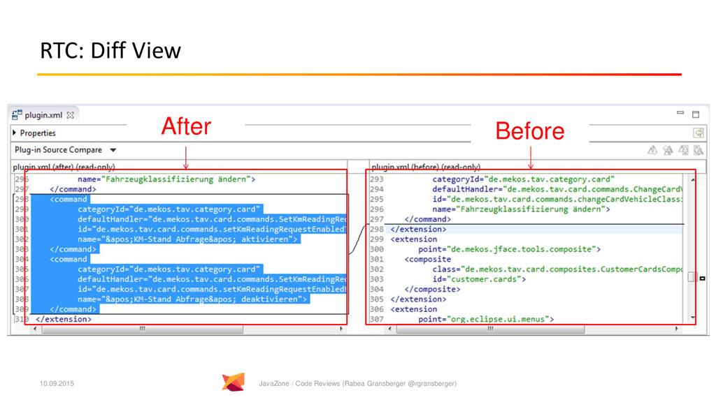 RTC: Diff View 10.09.2015 JavaZone / Code Revie...