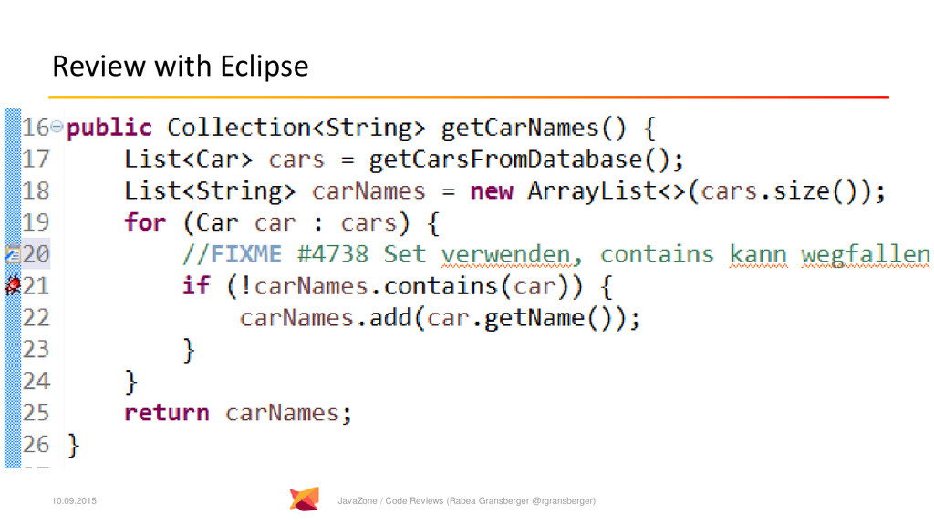 Review with Eclipse 10.09.2015 JavaZone / Code ...