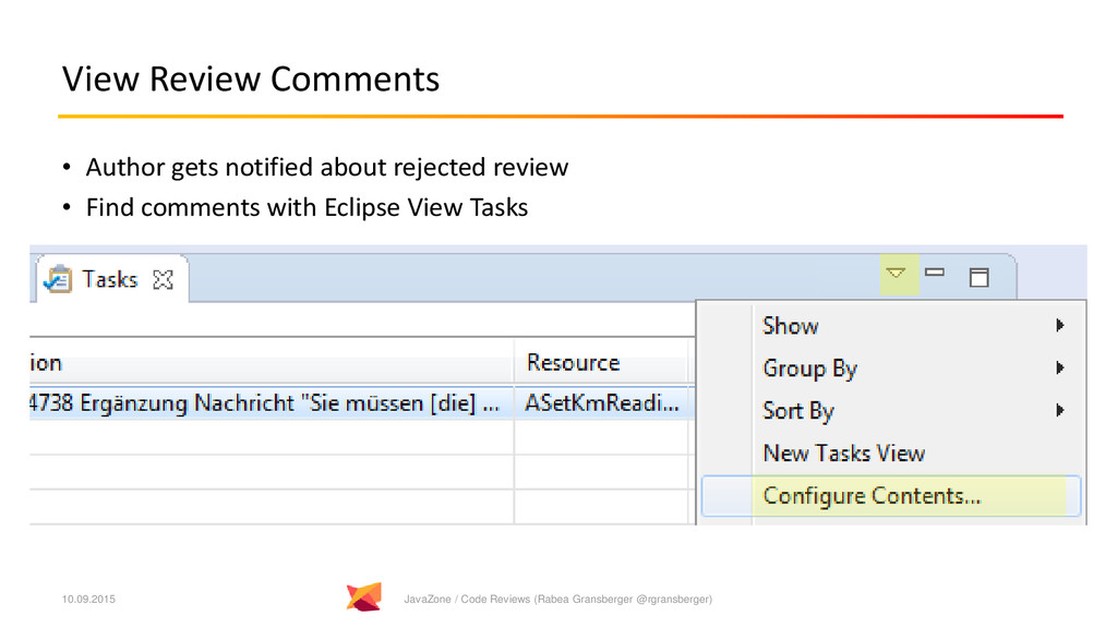 View Review Comments • Author gets notified abo...