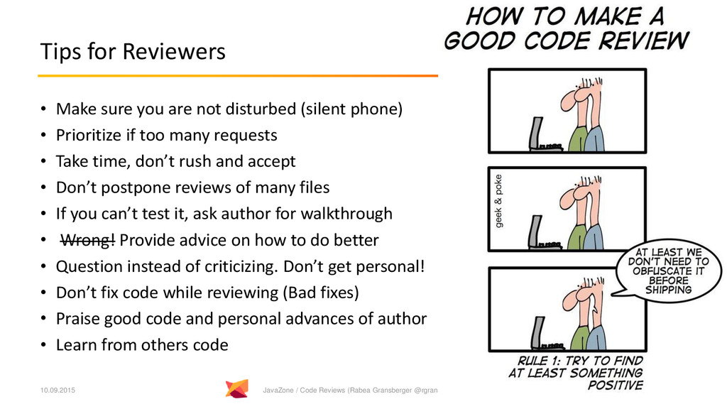 Tips for Reviewers • Make sure you are not dist...