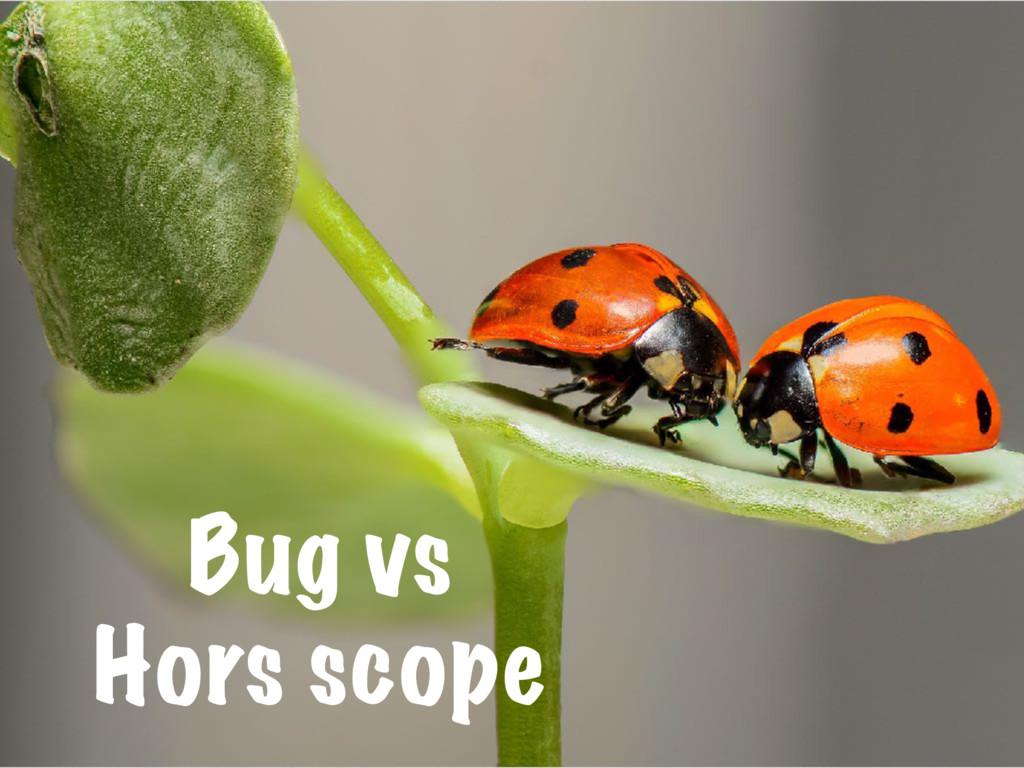 Bug vs Hors scope