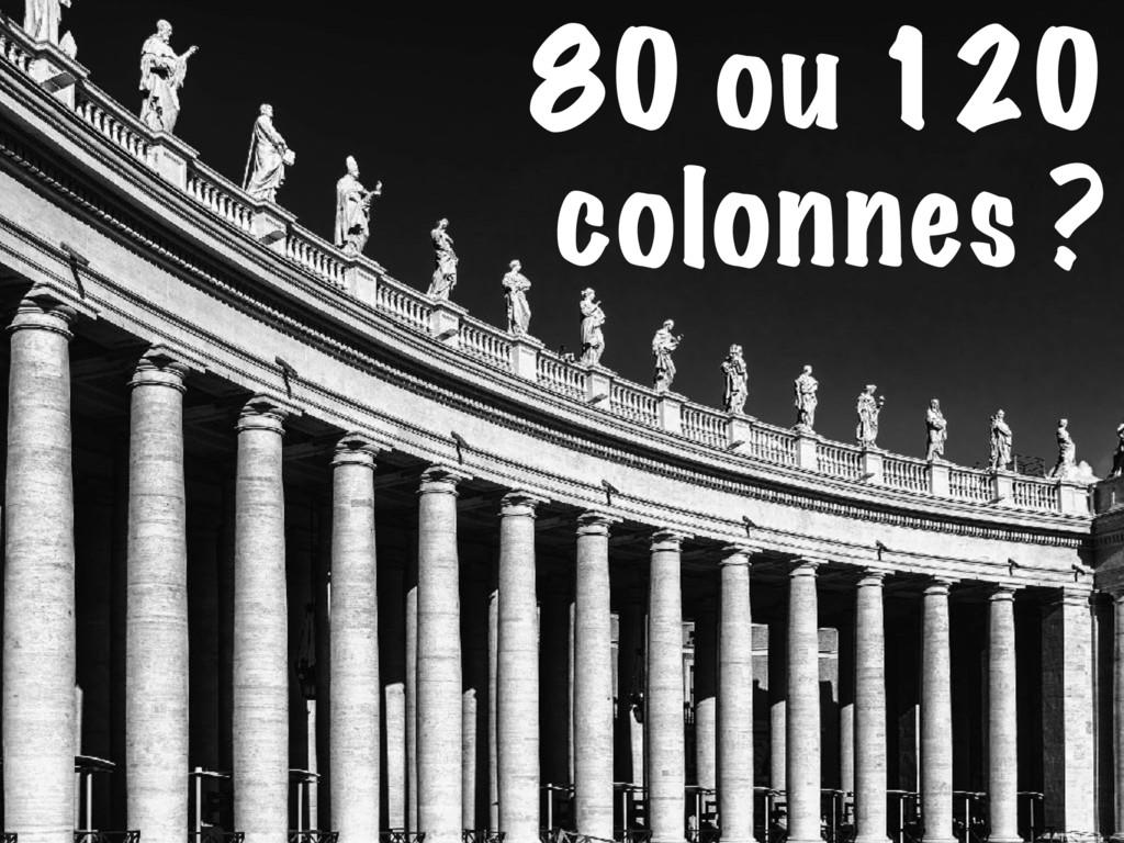 80 ou 120 colonnes ?