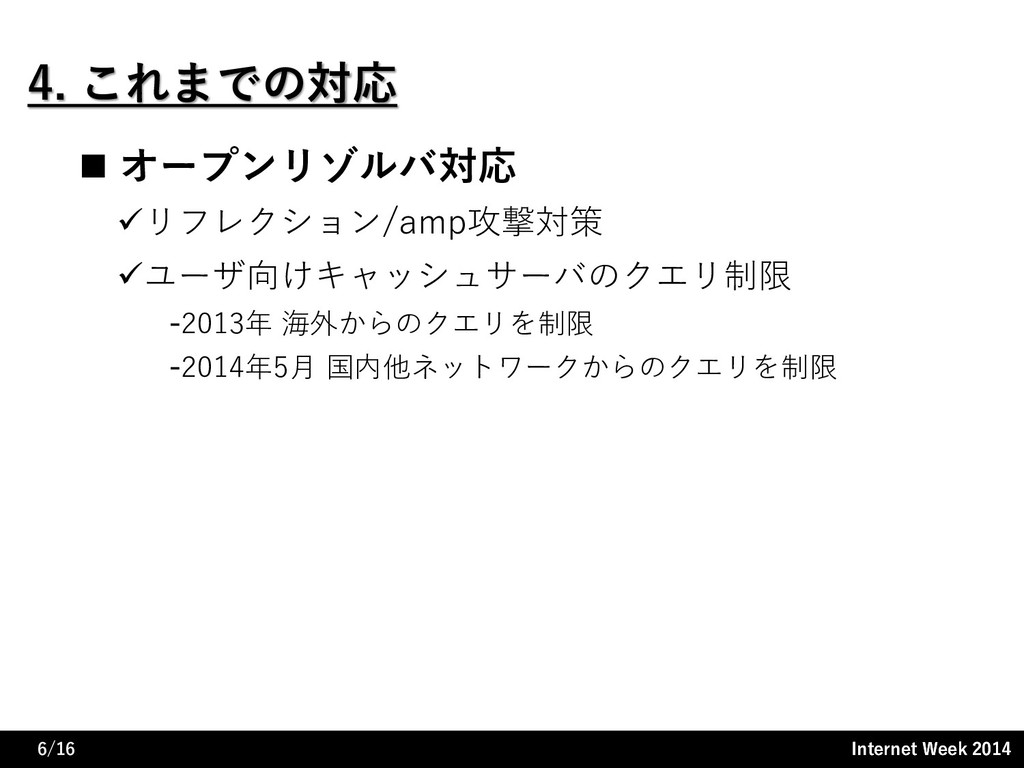 Internet Week 2014 Internet Week 2014 4. これまでの対...