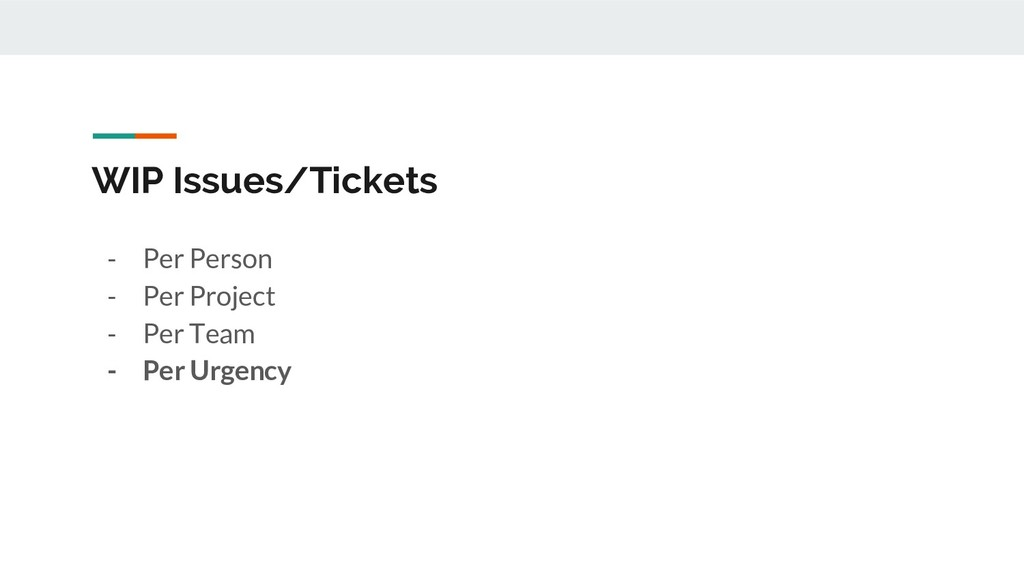 WIP Issues/Tickets - Per Person - Per Project -...