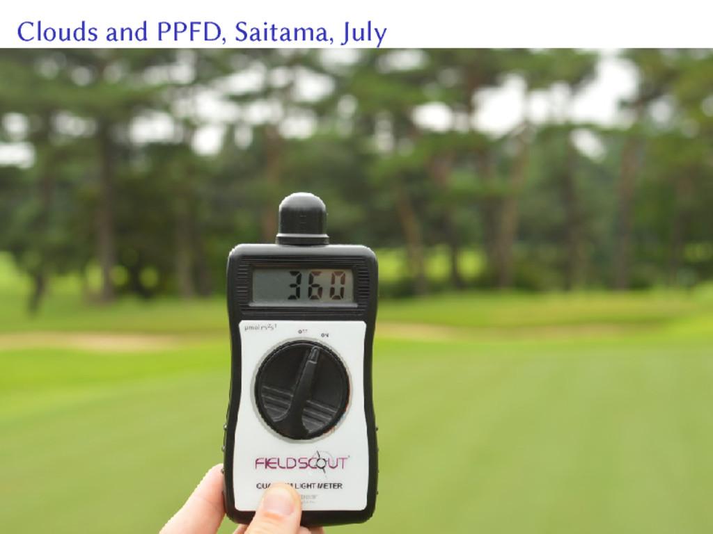 Clouds and PPFD, Saitama, July