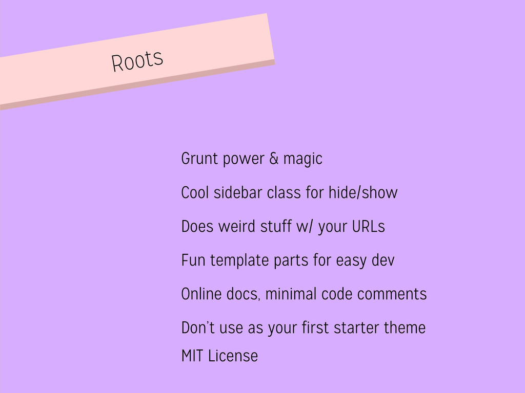 Roots Grunt power & magic Cool sidebar class fo...