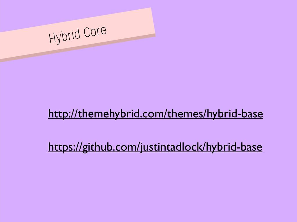 Hybrid Core https://github.com/justintadlock/hy...