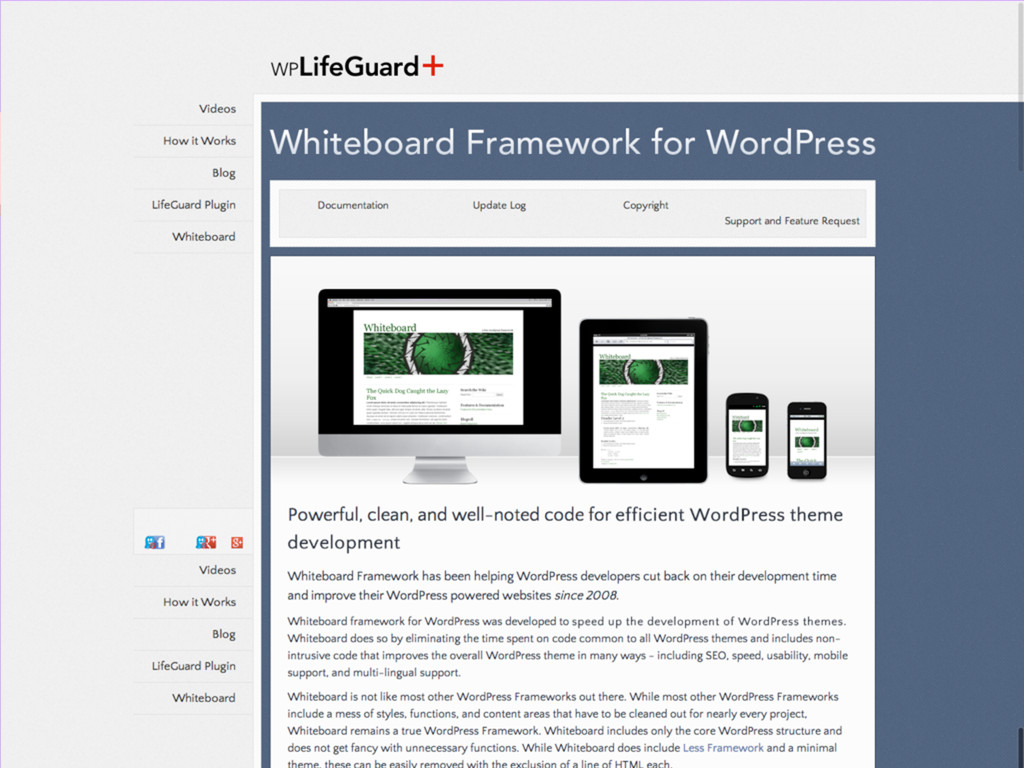 What's out there? Whiteboard Framework