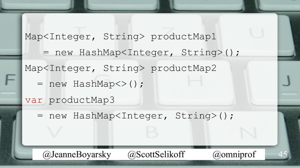 @JeanneBoyarsky @ScottSelikoff @omniprof Map<In...