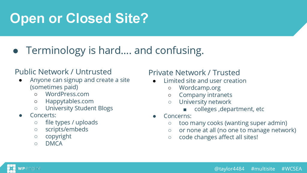 @taylor4484 #multisite #WCSEA Open or Closed Si...