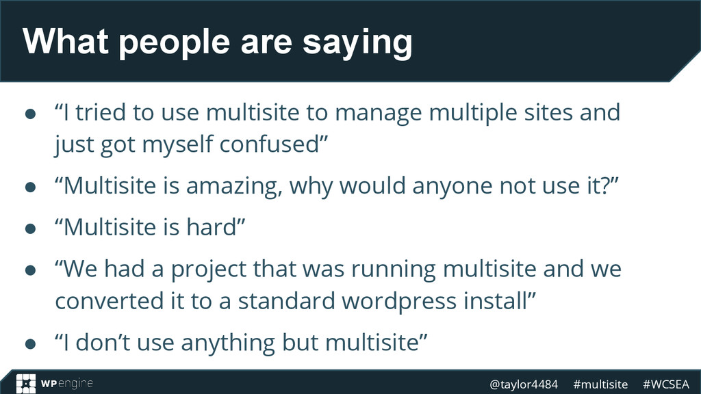 @taylor4484 #multisite #WCSEA What people are s...