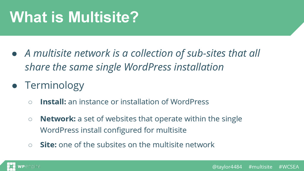 @taylor4484 #multisite #WCSEA What is Multisite...