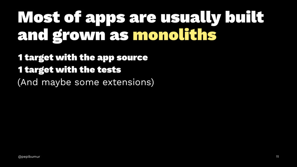 Most of apps are usually built and grown as mon...