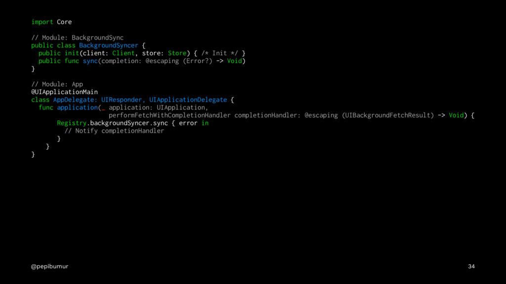 import Core // Module: BackgroundSync public cl...