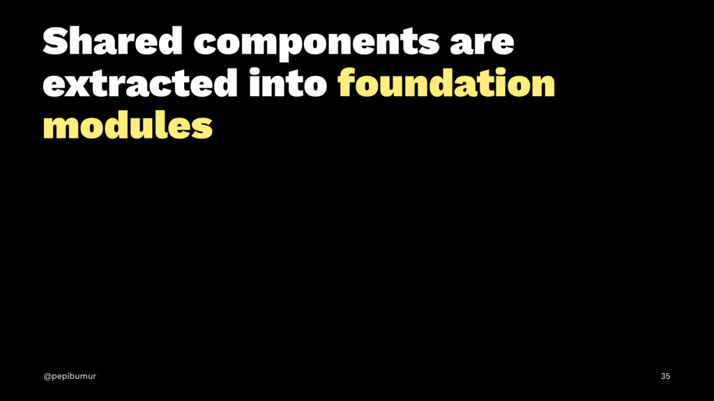 Shared components are extracted into foundation...