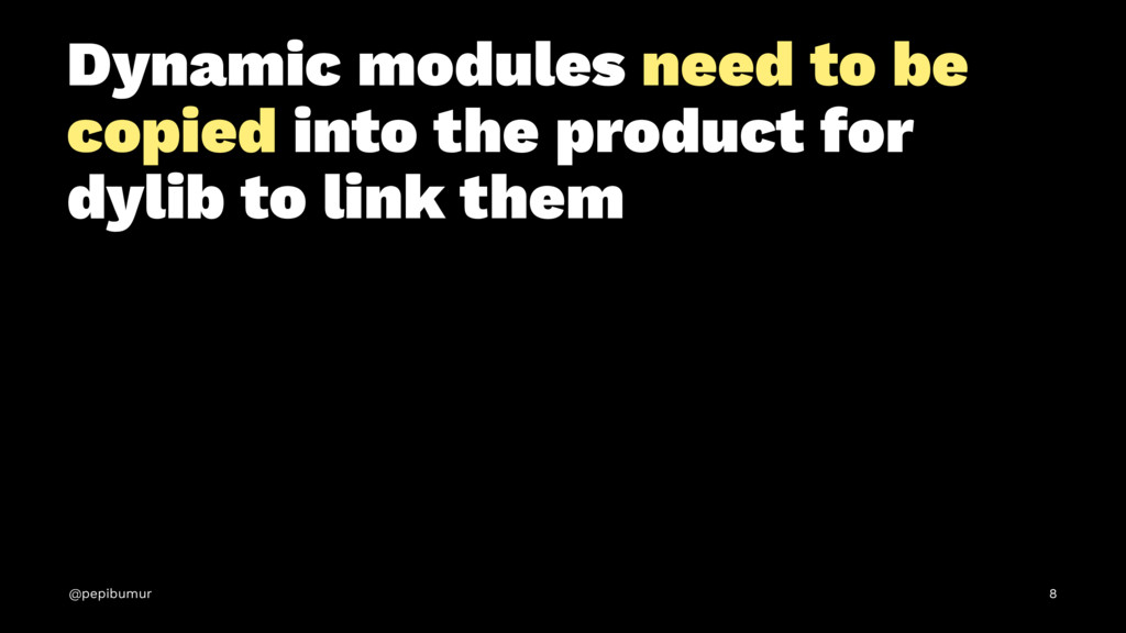 Dynamic modules need to be copied into the prod...