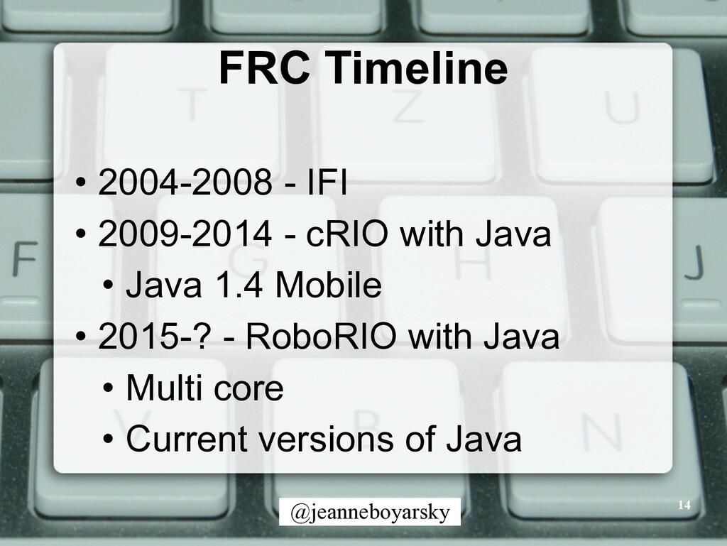 @jeanneboyarsky FRC Timeline • 2004-2008 - IFI ...