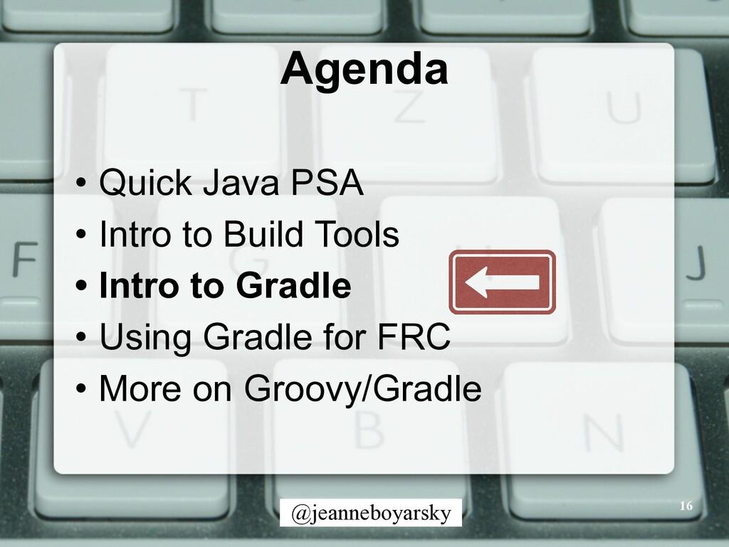 @jeanneboyarsky Agenda • Quick Java PSA • Intro...