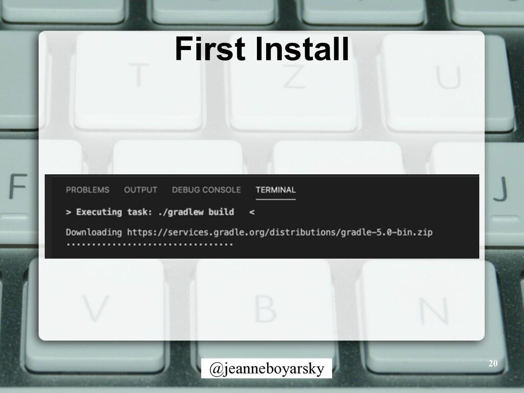 @jeanneboyarsky First Install 20