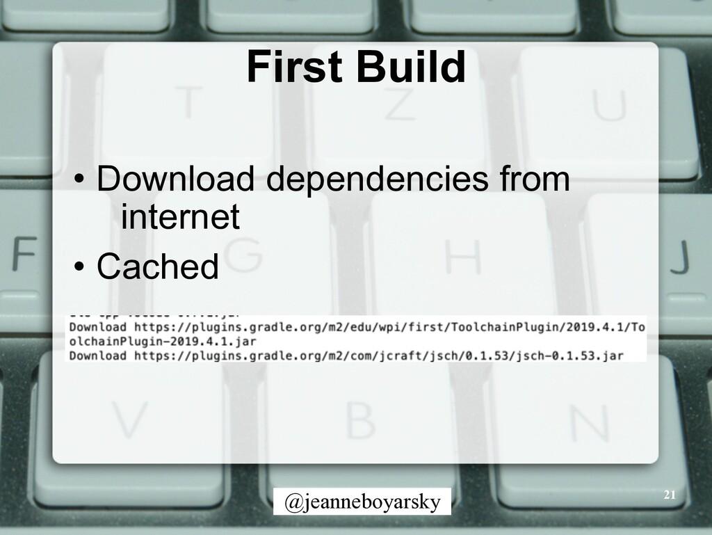 @jeanneboyarsky First Build • Download dependen...