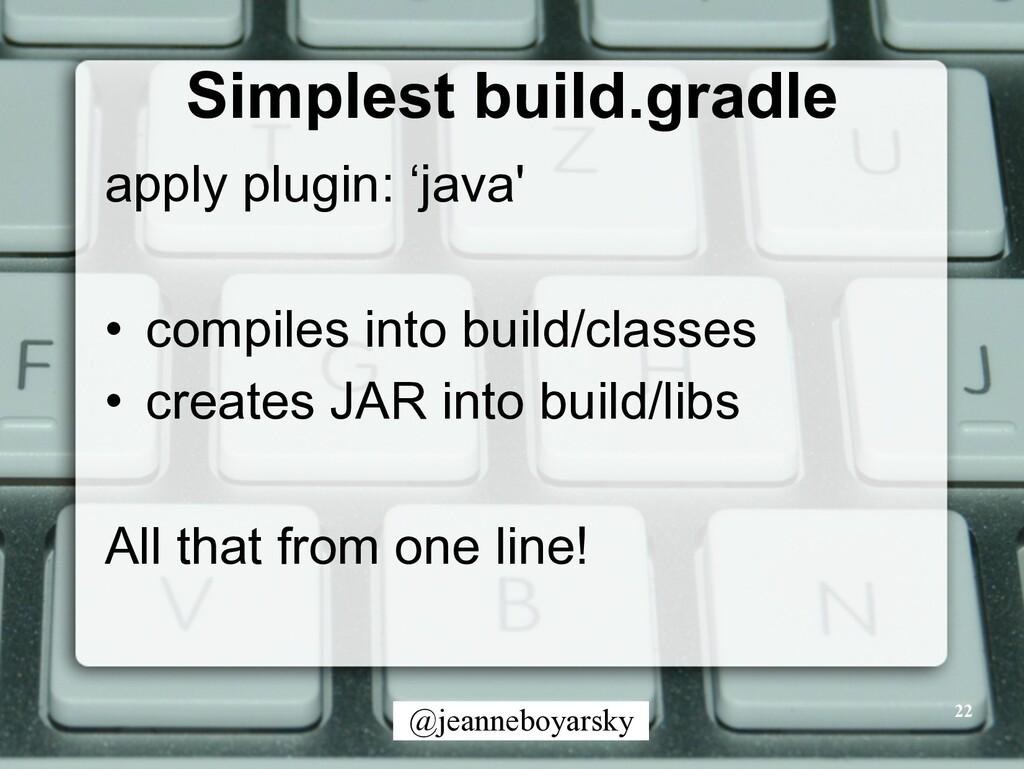 @jeanneboyarsky Simplest build.gradle apply plu...
