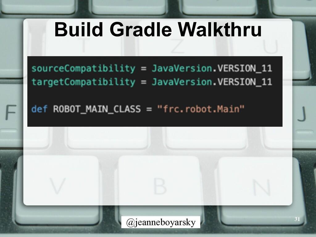 @jeanneboyarsky Build Gradle Walkthru 31