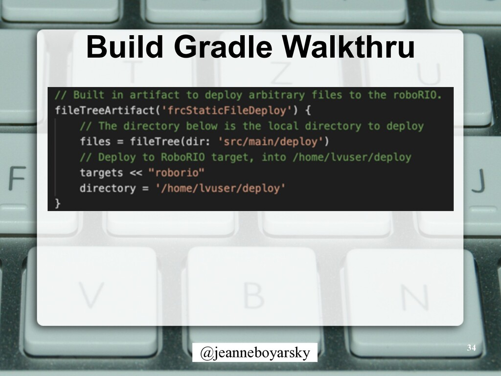 @jeanneboyarsky Build Gradle Walkthru 34