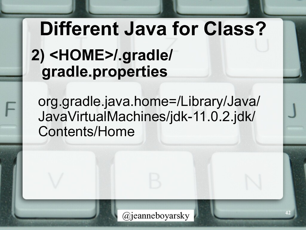 @jeanneboyarsky Different Java for Class? 2) <H...