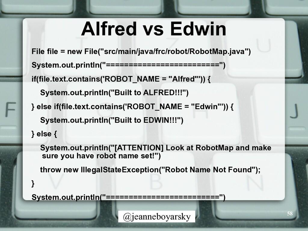 @jeanneboyarsky Alfred vs Edwin File file = new...