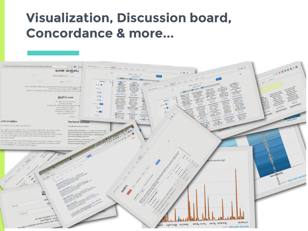 Visualization, Discussion board, Concordance & ...