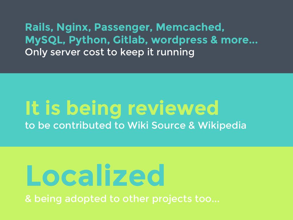Rails, Nginx, Passenger, Memcached, MySQL, Pyth...