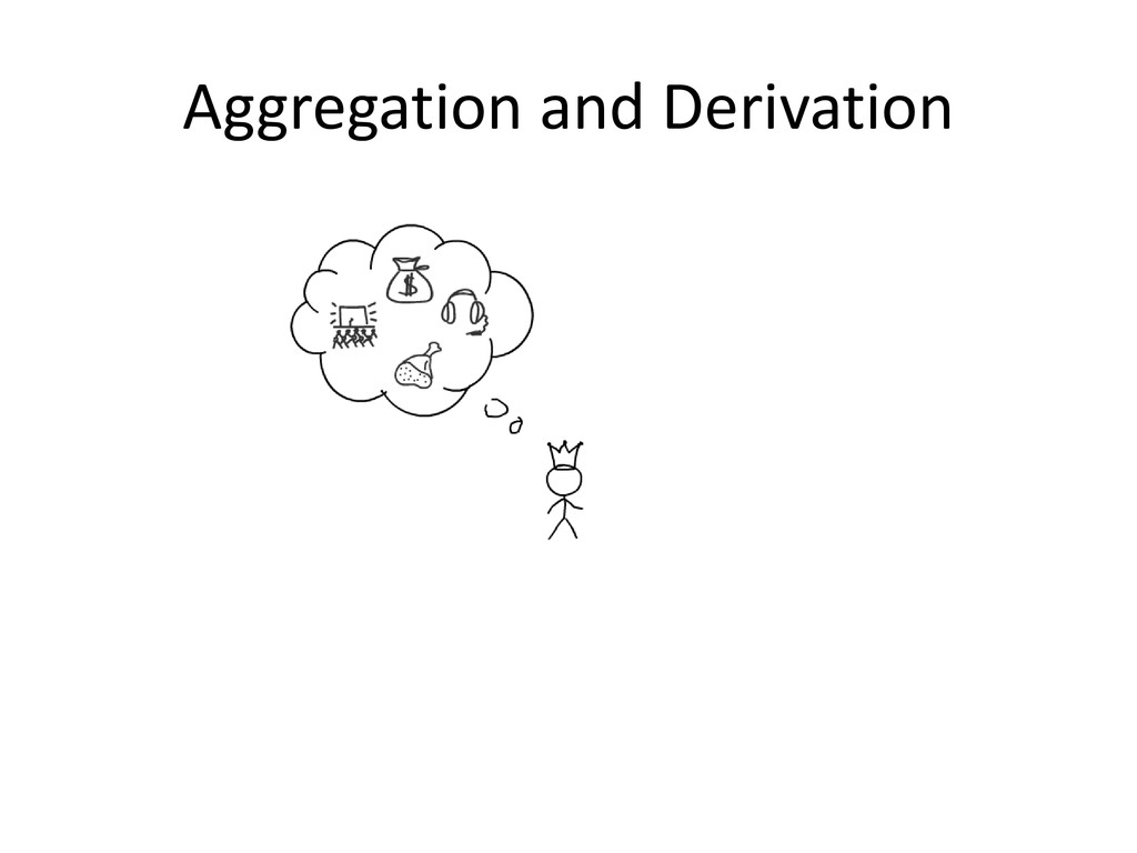 Aggregation and Derivation